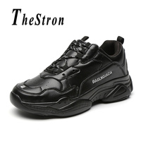 Unisex Running Shoes Spring Autumn Mens Black White Sport Shoes Comfortable Fitness Sneakers Lace Up Women Athletic Shoes