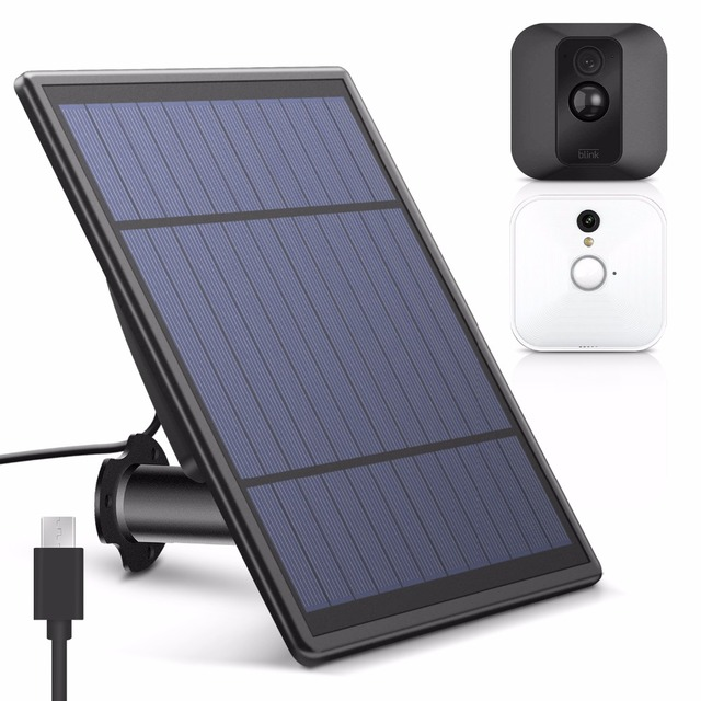 US $38 99 |Solar Panel for Blink XT Security Camera, Wall Mount Outdoor  Weatherproof Solar Power Charging Panel for Blink XT Home System-in Smart