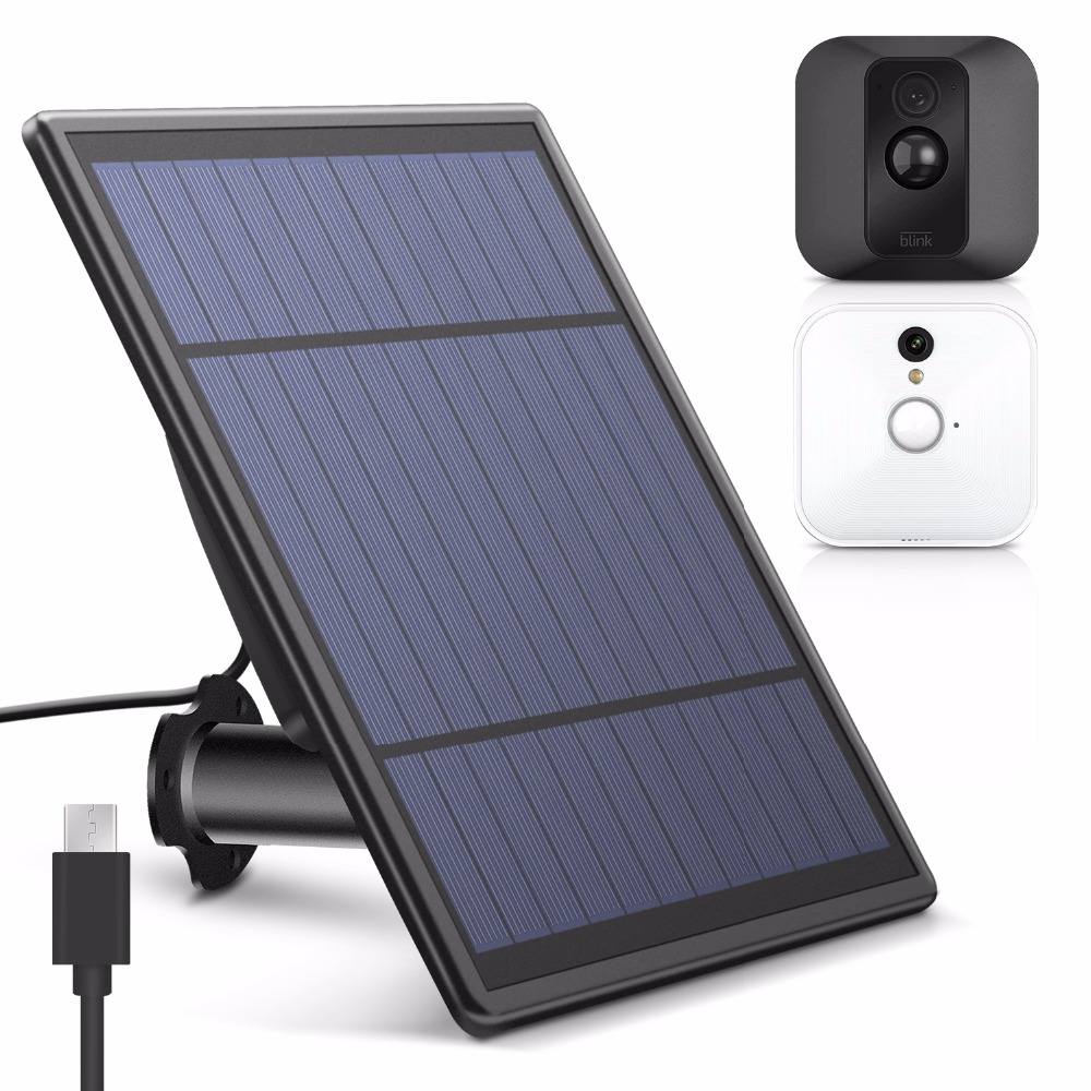 Solar Panel for Blink XT Security Camera, Wall Mount Outdoor Weatherproof Solar Power Charging Panel for Blink XT Home System image
