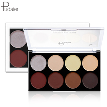 Pudaier 8Color Highlighter Bronzer Contour Cream Kit Natural 3d Face Makeup Palette Brighten Concealer Highlight Cosmetic