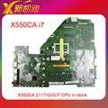 Original del ordenador portátil motherboard onboard i7 cpu para asus x550ca x550cc completamente prueba antes del envío
