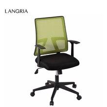 LANGRIA средняя спина крутящийся сетчатый для работы в офисе стул с коленом наклона зеленый США