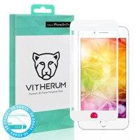 청록색-프리미엄 3d 곡선 강화 유리 아이폰 8 +/7 + (화이트 프레임)
