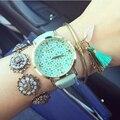 New Arrival Leather Strap Watches Hollow Flower Women Watch Geneva Watch Fashion Quartz Watches Relogio Feminino