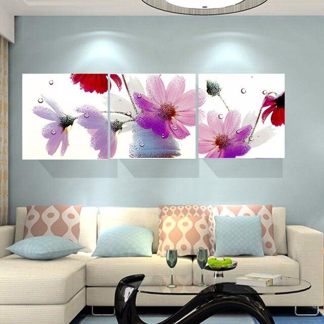 Pas de cadre abstrait rose fleur pas cher moderne peintures toile ...
