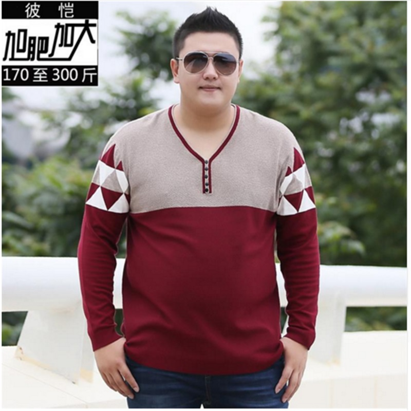 Plus Size 10XL 8XL 6XL 5XL V-Neck Slim Fit Sweater Men 2018 Fashion Spring Autumn Pullover Men Homme Leisure Solid Color Sweater