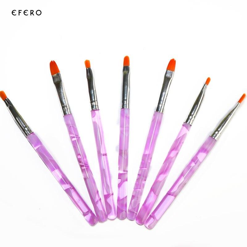 7PCS Nail Brushes For Nail Design Acrylic UV Gel Nail Art Tips ...