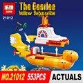 2017 Nueva Lepin 21012 553 Unids El beatles yellow submarine Blcoks construcción Ladrillos Juguetes 21306 regalo Divertido para