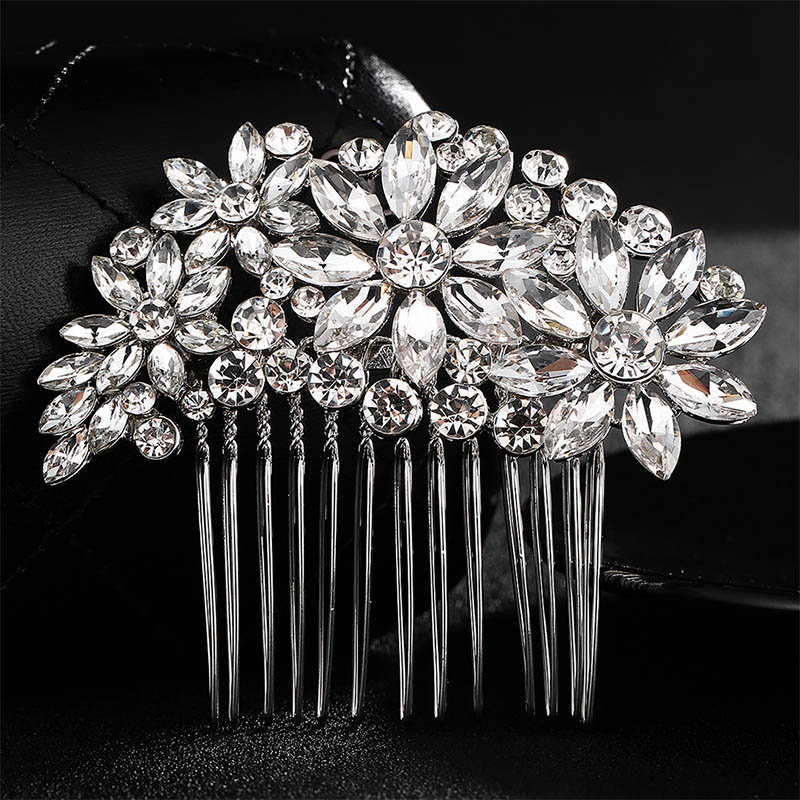 QYY Fashion Crystal Wedding Hair Accessories Hairpins Bridal Hair Jewelry Rhinestone Women Hair Pins Clips Headpieces in Hair Jewelry from Jewelry Accessories