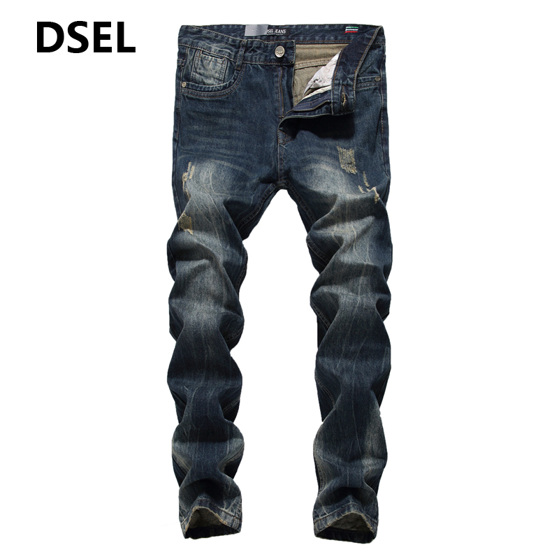Hot Sale Dark Denim Scratch Jeans Men Dsel Brand Clothing High Quality Mid Stripe Slim Fit Men`s Ripped Jeans 29-40 N625 tes ro 18 14 ts 323 35