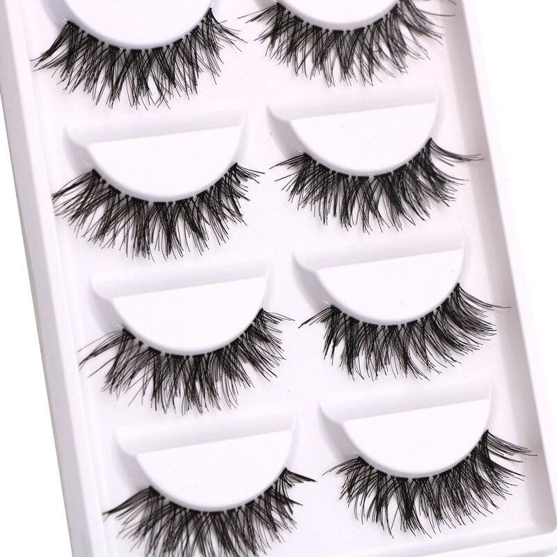 30 Pairs/lot Natural Long False Eyelashes Thick Cross Makeup Beauty Fake Eyelashes Strip Fake Eye Lashes Extension Tools