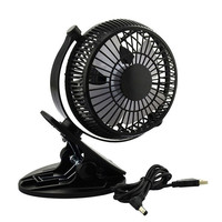 Portable 2 Gear Rocker Switch Mini Desk Fan Clip-on Quiet Table Fan USB Powered Cooling Flexible Computer Fan for PC Laptop 1