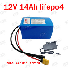 Brand Lifepo4 12v 15Ah no 16Ah battery pack backup power 12.8v 20A DC rechargeable for camera 240W golf trolley Toys +2A charger(China)