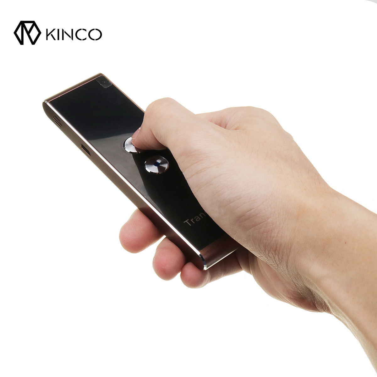 KINCO Portable Smart Language Translator Digital Voice Instant Traductor Simultaneo Support 33 Languages Learning Meeting Travel