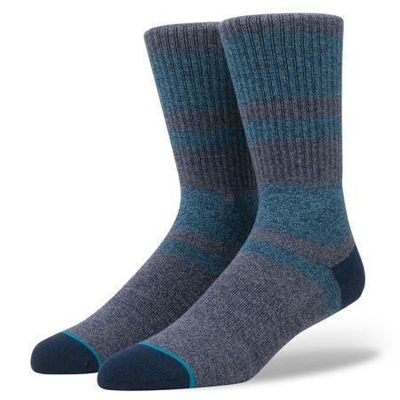 Mens Heather Navy Block Yuppie Skate Dress Socks USA Size 6-8.5, 9-12 ,Euro Size 39-41.5,42-45(Thick Top Quality)