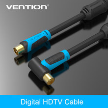 Vention 90 Derajat Male To F Jenis Pria Coaxial TV Antena Satelit Kabel 1 M/1.5 M/2 m/3 M/5 M/10 M(China)