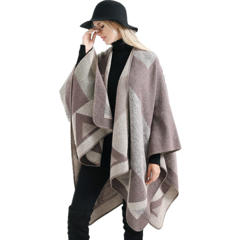 Eranlee Patchwork Warm Pashmina Stoles Women   Scarf   Shawls For Ladies Poncho Capes Oversize Winter Thick Cashmere   Scarves     Wraps