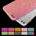 Para iphone 7 plus luxuruy bling full body decal glitter volver engomada de la película de la cubierta del caso para iphone 7/5/5S 6/6 s 6 plus/6 splus Hu410