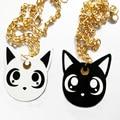 Black cat necklace black cat pendant Cat jewelry gothic pendant