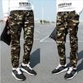 M-5X 2016 Mens Jogger Autumn Pencil Pants Men's Camouflage Military Pants Loose Comfortable Cargohose Camo Joggers