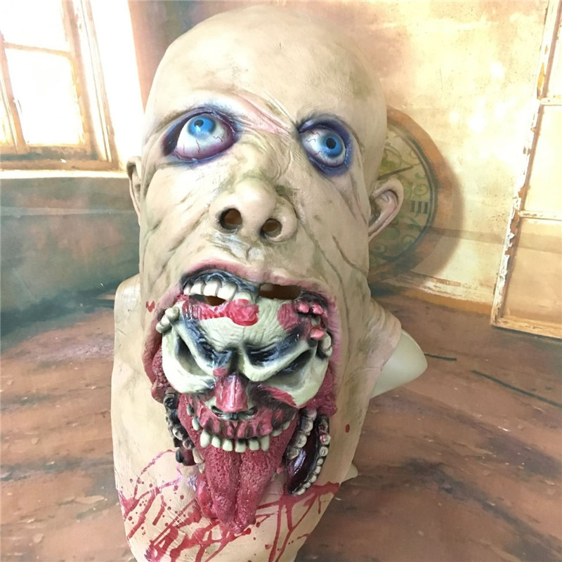 Hot Latex Scary Horror Rotting Zombie Mask Horrible