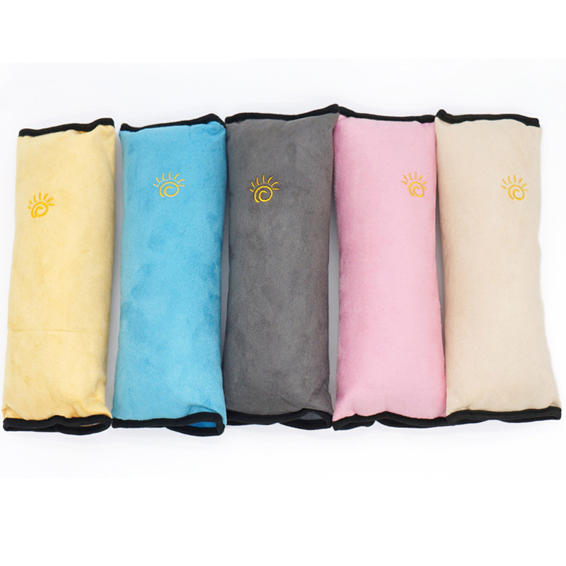 Droshipping 28x9x12cm Baby Children Safety Strap Micro-suede Fabric Car Seat Belts Pillow Shoulder Protection