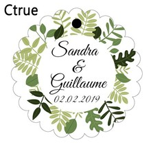 Diameter 4cm Custom candy box tags Personalized name & date wedding Gift Tag DIY Gift Label rustic wedding decoration DIY craft(China)
