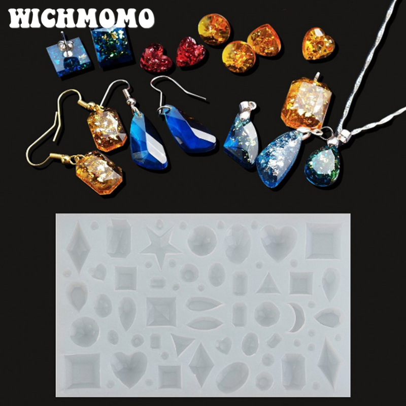 2019 New Fashion 1PCS Craft DIY Transparent UV  Resin Liquid Silicone Combination Molds For Earring Necklace Making Jewelry
