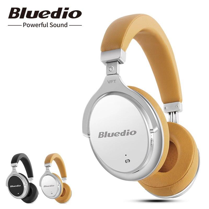 2017 New Bluedio F2 activa de ruido cancelación de Bluetooth inalámbrico Auriculares auriculares con micrófono para teléfonos