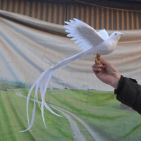 Beautiful Simulation Phoenix Bird Toy Plastic Furs Flying Phoenix Gift About 50x15cm