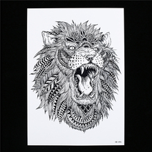 1 Sheet Waterproof Large Temporary Tattoo Sticker HB496 Women Men Body Arm Leg Art Water Transfer King Of Forest Lion Tattoo Hot