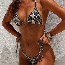 Купить с кэшбэком Sexy Bikini Set 2019 New Brazilian Swimsuit Swimwear Women Push Up Bikini Print Swim Suit Female Beach Party Two-Piece Summer