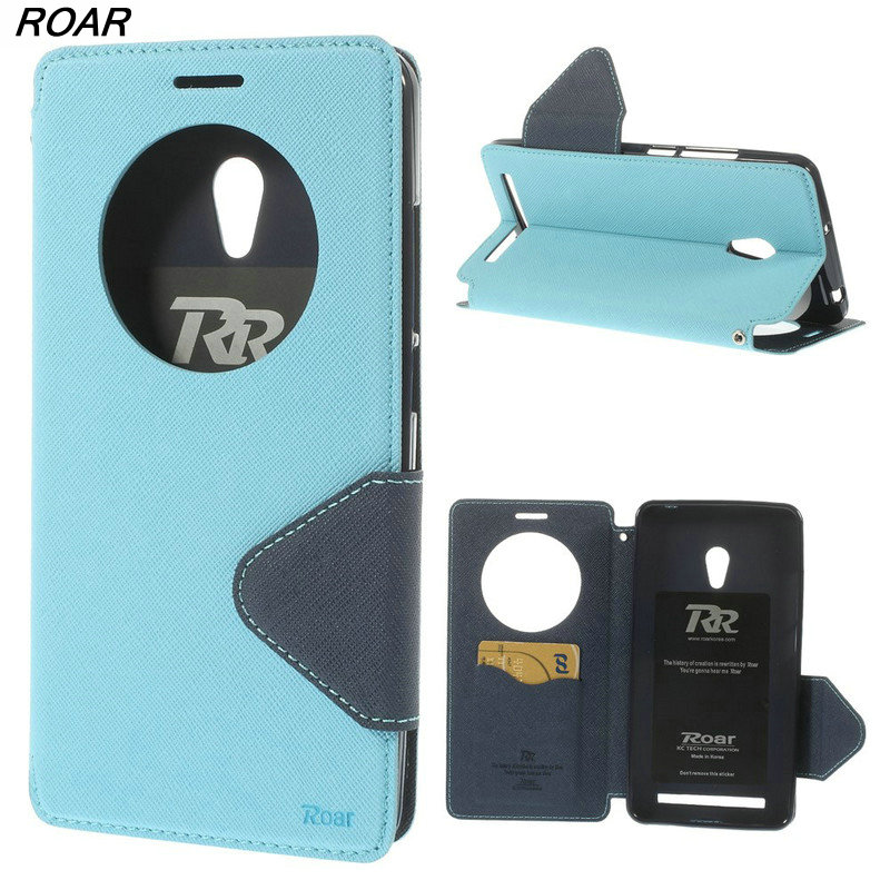 For Asus Zenfone 6 Case Original Roar Korea Diary Circle Window Stand Leather Case for Asus Zenfone 6 Zenfone 5 With Package