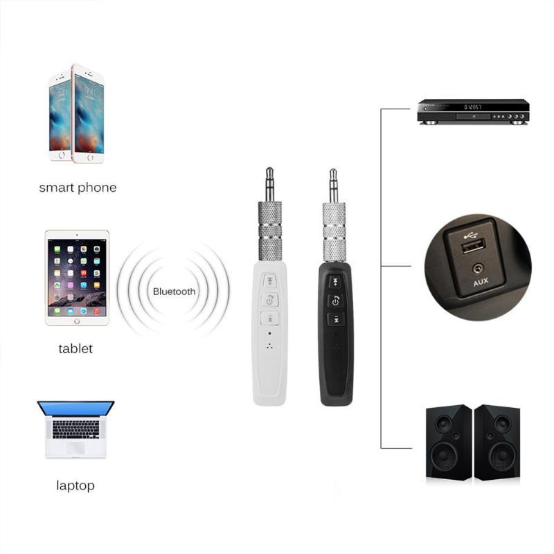 Vodool Bluetooth Empfänger 3,5mm Jack Auto Aux Audio Kragen Clip Mini Musik Wireless Adapter Hände-freies Auto Kits Unterstützung Tf Karte Tragbares Audio & Video
