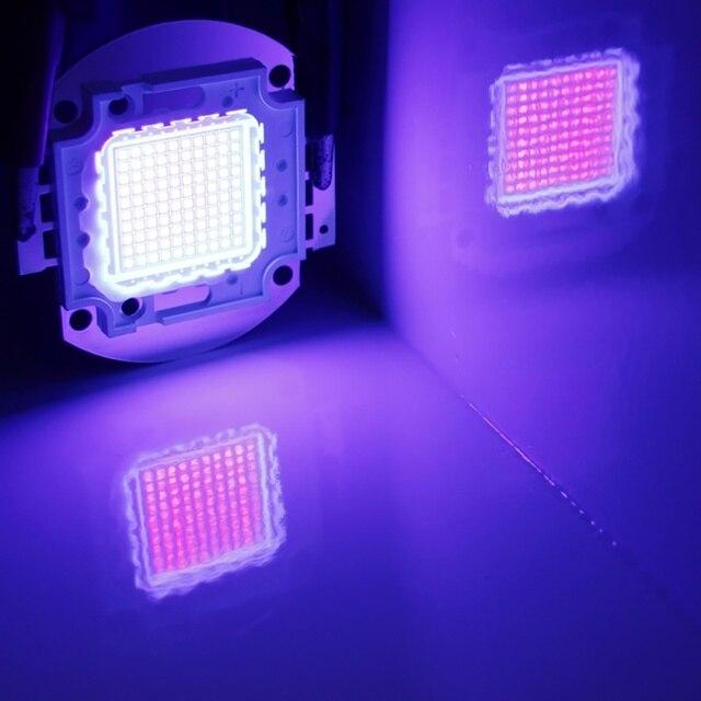 מתח גבוה Led שבב 100 W סגול אולטרה סגול (UV 395 ~ 400nm) SMD COB אור 100 W אולטרה ויולט הנורה מנורה