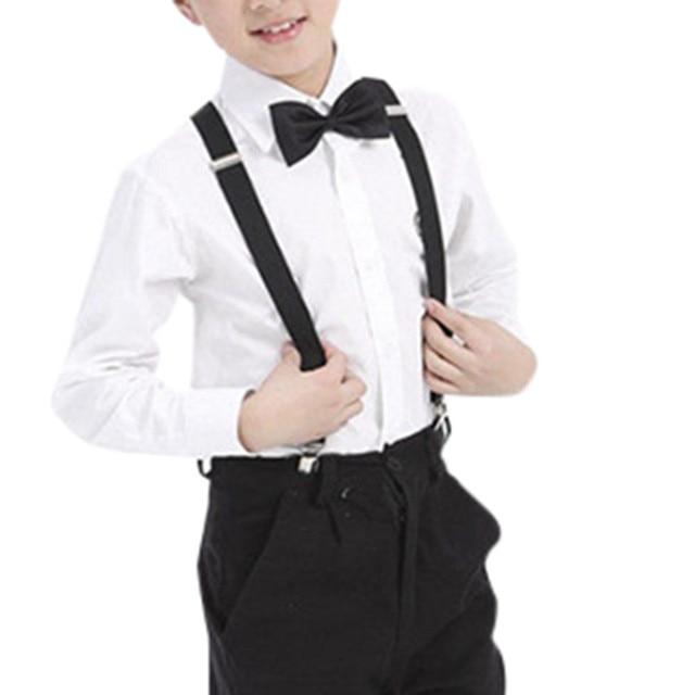 0d17b1d2e49de US $3.05 |Aliexpress.com : Buy Kids Baby Boy Suspenders Adjustable Braces  Elastic Suspenders and Bow Tie Set Blaser Suit Accessories SD from Reliable  ...