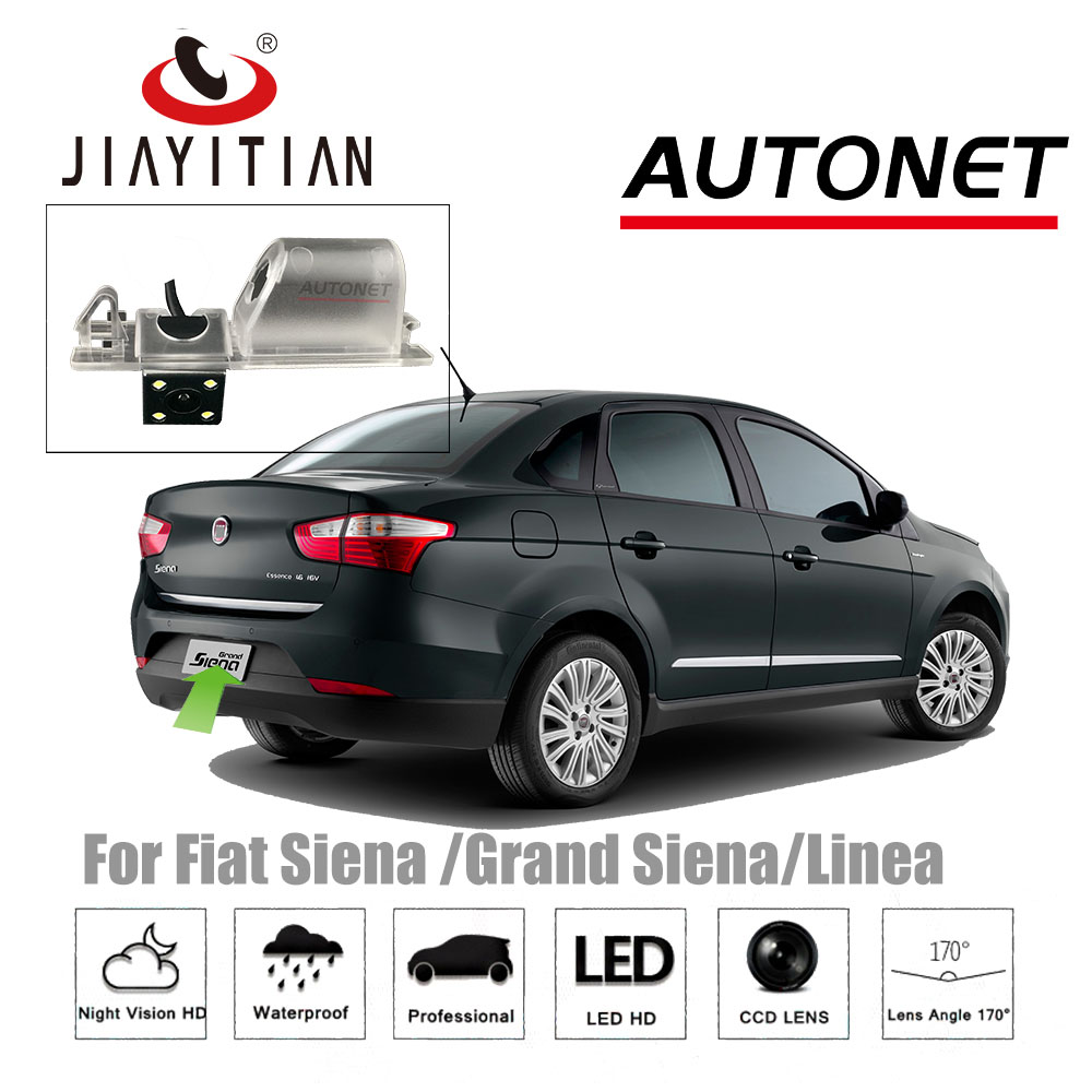 100% Quality Jiayitian Rear View Camera For Fiat Linea 323/siena 326/grand Siena 178/ccd Night Vision Reverse Camera License Plate Camera Consumers First