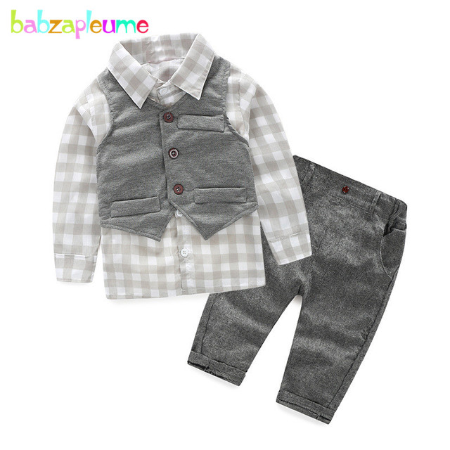 3PCS 0 18Months Spring Autumn Newborn Suit 1st Birthday Baby Wear Boys Clothes