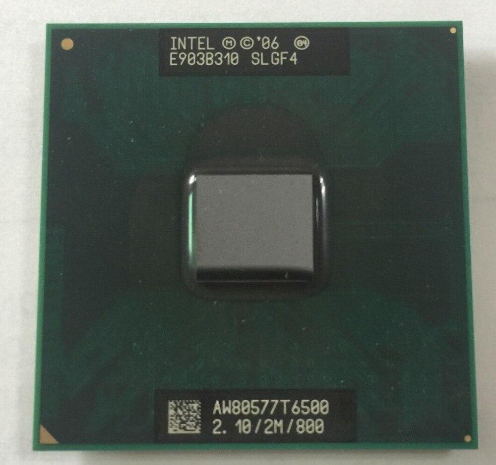 Livraison Gratuite pour intel CPU ordinateur portable Core 2 Duo T6500 CPU 2 M Cache/2.1 GHz/800/Dual-Core Socket 479 Ordinateur Portable processeur pour GM45 PM45