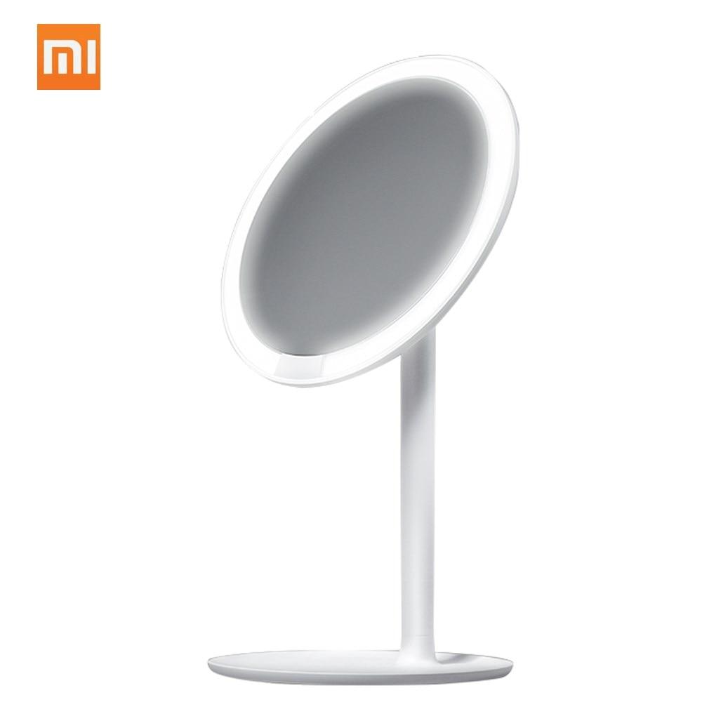 Xiaomi Mijia AMIRO HD зеркало дневной косметический макияж светодио дный светодиодная зеркальная лампа 2000 мАч регулируемая Столешница 60 градусов вр...