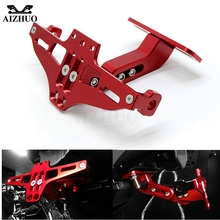 Motorcycle License Plate Holder Bracket Folding Mount Kit for Kawasaki Yamaha Suzuki sv650 sv650s 1999-2009 650s