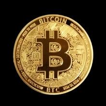 Стиль физический Биткоин металлический Бит монета BTC чехол отличный подарок имитация памятной арт-коллекция монет BTC медаль