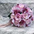Pretty Charming Delightful 23cm Diamater Wedding Bouquet  buque casamento Artificial Silk Flower Bridal Home Decal