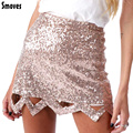 Smoves Womens Vintage Triangle Cut Out Sequin Skirt Mini Bodycon Pencil Skirt Party Holiday Look GS134