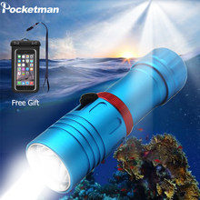 15000LM Powerful XM-L2 Diving Flashlight 200M Underwater LED Torch Scuba Flashlight Waterproof with 18650 Battery/ Free Gift(China)