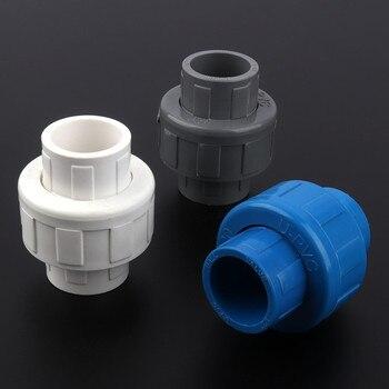 2 uds. Diámetro interior 20mm de PVC Unión conector acuario tubo del tanque de agua de jardín conectores riego tubería de suministro de agua de las articulaciones