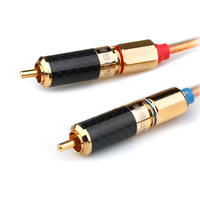 XiaoFan X50 Single Crystal Copper Speaker 2 RCA Double Lotus Head Audio Cable 2 to 2 Audio Amplifier Signal Cable Free Shipping