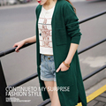 Señora Moda Cashmere blend Suéter Largo Abrir Stitch Mujeres Cardigans FP731