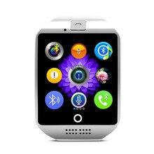 X7ยี่ห้อu nisexเลดี้นาฬิกาบลูทูธsmart watchพื้นผิวโค้งกล้องสนับสนุนซิมการ์ดสำหรับมาร์ทโฟนจัดส่งฟรี
