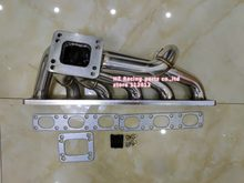 Tebal 3 Mm TOP MOUNT Turbo Manifold untuk E30 E34 24V M50 M52 M54 S50 S52 Exhaust Manifold T3/T4(China)